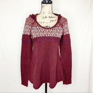 Free People Womens S Sweater Top Hooded Metallic